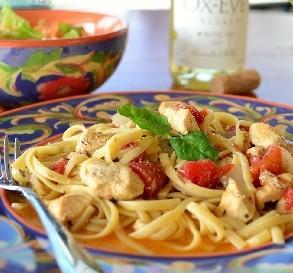 Sept. 8:  Chicken & Pasta in White Wine Garlic Sauce