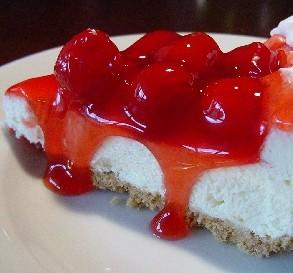 No-Bake Cherry Cheesecake Pie