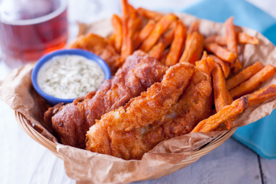 Beer battered fish recipe genius kitchen for Fish and chips batter recipe