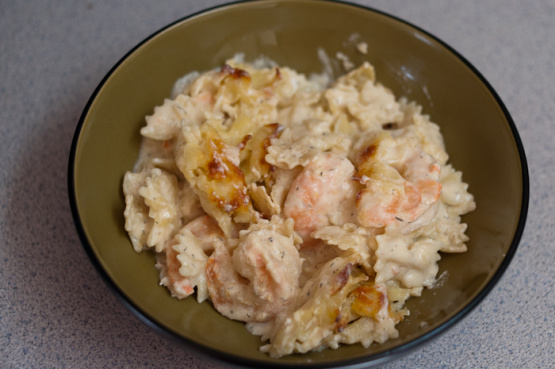 Recipe for shrimp casserole with pasta