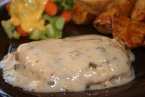 Pork steak and mushroom soup recipe