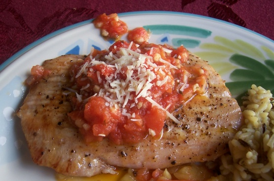 Seared opah moonfish with vine ripe tomato garlic butter for Opah fish recipes