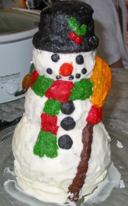 Snowman cake mold recipe