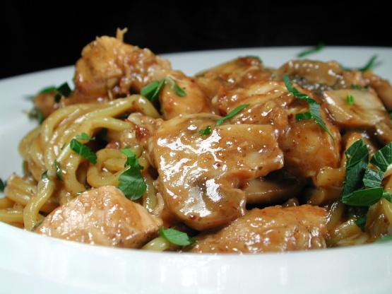 Garlic Chicken And Mushrooms In White Wine Sauce Recipe - Food.com