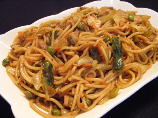 Chicken lo mein with vegetables recipe for Easy to cook dinner recipes for two