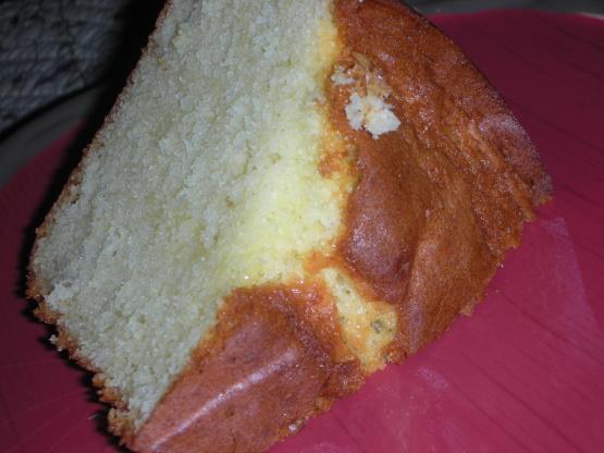 Simple Pound Cake With Cake Flour