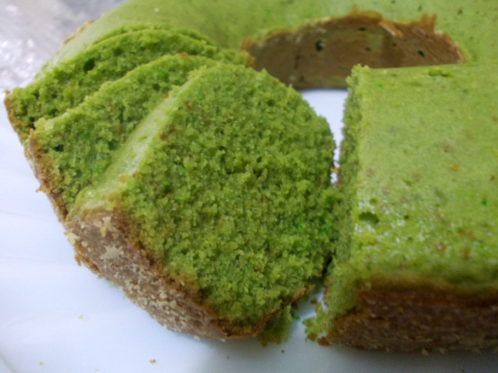 Japanese Layered Cake Recipe: Green Tea Cake