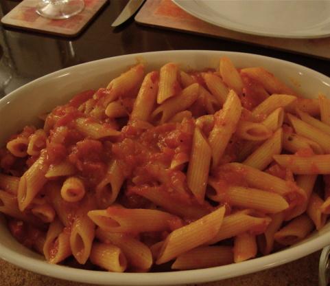 Penne pasta with arrabiata sauce recipe