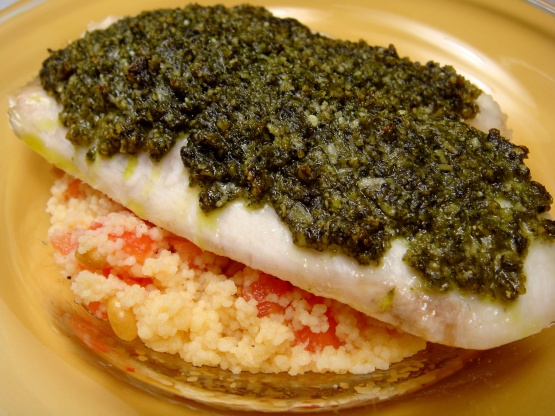 Pesto Crusted Tilapia Recipe Genius Kitchen