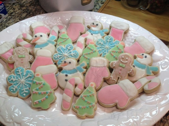 Christmas cookie icing recipe hardens