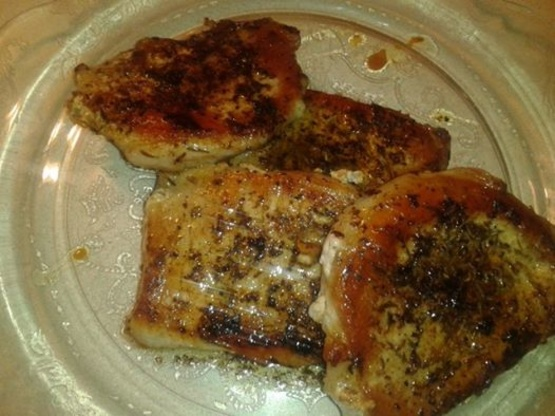 Pan-seared pork chops recipe