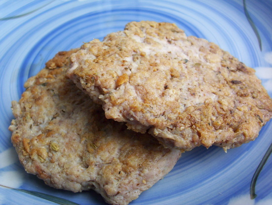 Homemade Chicken Sausage Patties With Olives And Oregano Recipe ...