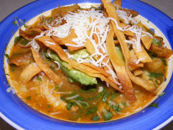 Chicken Tortilla Soup Similar To Houstons Recipe Genius Kitchen