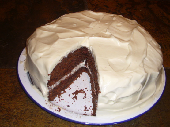 Chocolate Buttermilk Cake With A Sour Cream Frosting Recipe - Food.com
