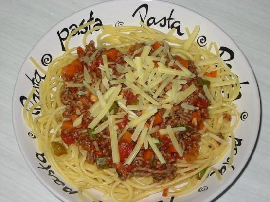 Almost Fat - Free Spaghetti Bolognese Recipe - Genius Kitchen
