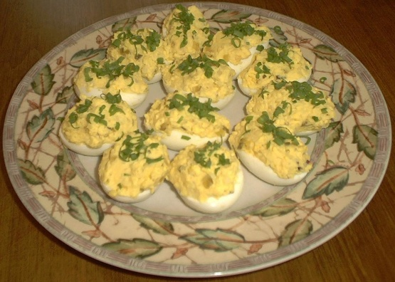 Hickory house deviled eggs recipe genius kitchen for Table 52 deviled eggs recipe