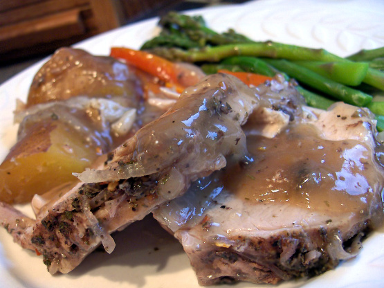Tender juicy pork roast recipe