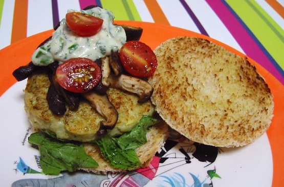 Fish Burgers With A Herb Sauce Recipe Genius Kitchen