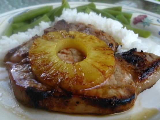 Jerk Pork Chops with Grilled Pineapple Jerk Pork Chops with Grilled Pineapple new picture