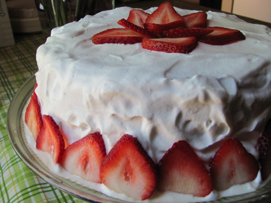 Strawberry Flavored Tres Leches Cake