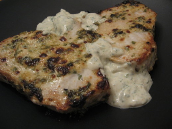 Grilled Halibut With Cilantro Cream Recipe - Food.com