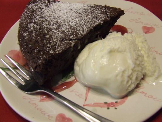 Star Flourless Chocolate Cake Recipe