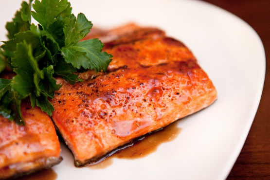 Seared Salmon With Balsamic Glaze Recipe - Food.com