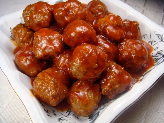recipe: sweet and sour meatballs with pineapple and tomato sauce [24]