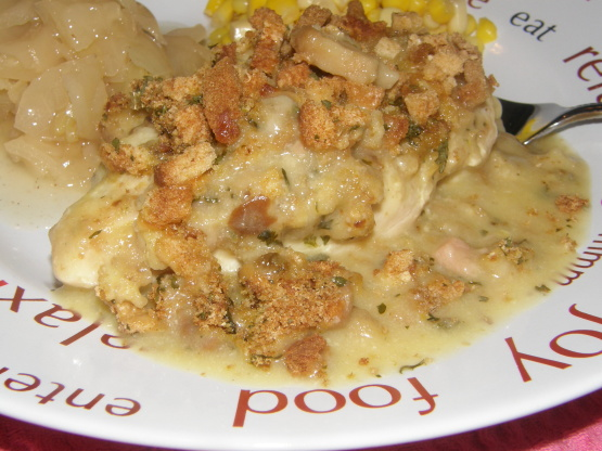 chicken casserole recipe with stuffing and cream of mushroom soup