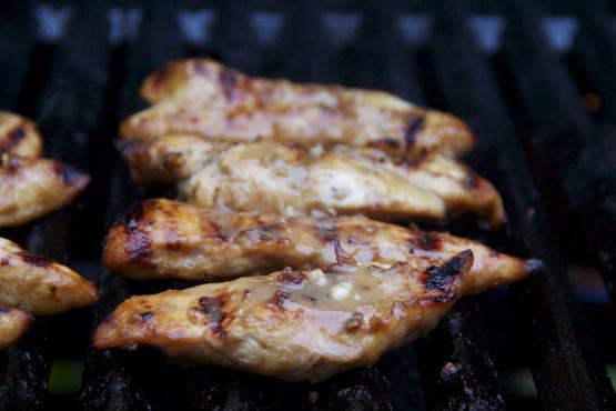Honey bourbon barbecue chicken breasts recipe