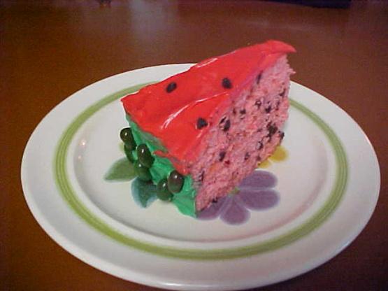 Watermelon Jelly Cake Recipe: Watermelon Cake Recipe