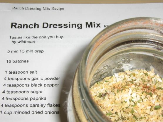 Ranch Dressing Mix RecipeFood.com