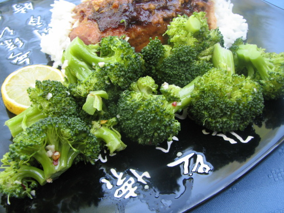 Microwave Lemon Garlic Broccoli Recepi