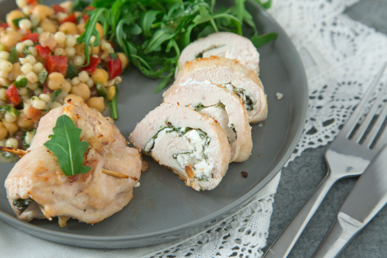 Chicken Roll-Ups With Goat Cheese And Arugula Recipe - Food.com