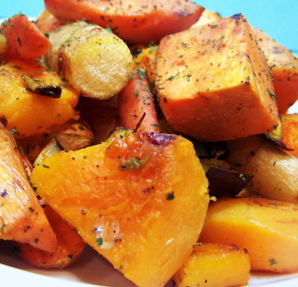 Watch Oven-Roasted Chicken and Root Vegetables video