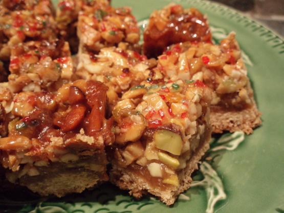 Rustic Nut Bars Recipe - Genius Kitchen