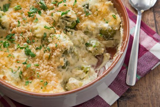 Smoked Gouda Brussels Sprouts Gratin Recipe - Genius Kitchen