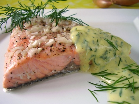 Salmon With Mustard Sauce. RecipeFood.com