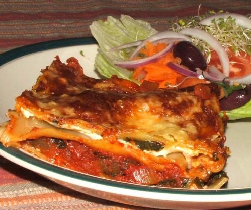 Three Cheese Spinach Lasagna RecipeFood.com