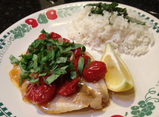 Poached Halibut With Tomato And Basil Recipe - Food.com