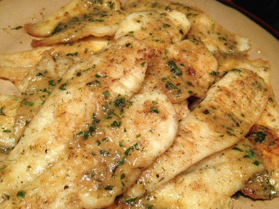 ... skinless lemon sole pan fried sole slices of fried bread sole