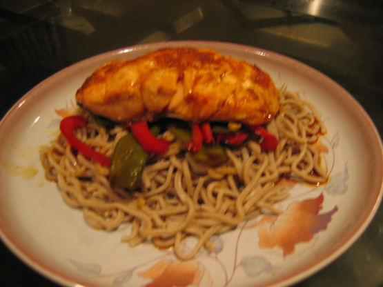 Ginger-Soy Salmon With Soba Noodles Recipe - Food.com