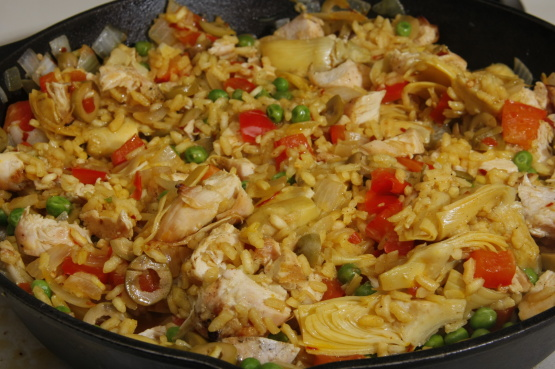 chicken paella recipe without saffron