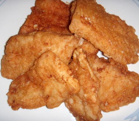 Arthur treachers fish recipe deep fried genius kitchen for Bisquick fish batter