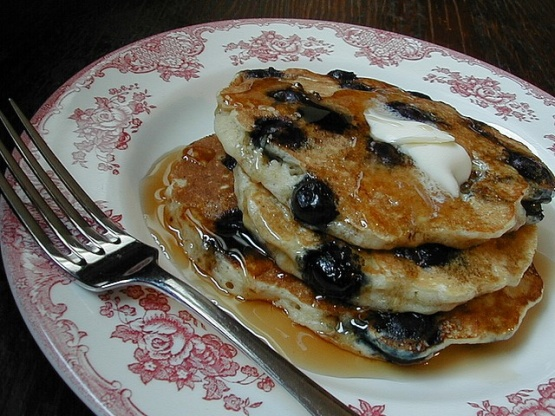 Blueberry Buttermilk Oatmeal Pancakes Recipe - Food.com