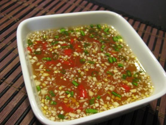 Vietnamese dipping sauce nuoc cham recipe genius kitchen for Fish sauce recipe