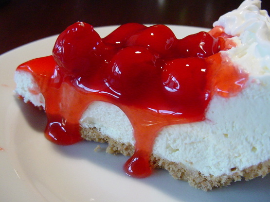 Alfa img - Showing > No-Bake Cherry Cheesecake Dessert