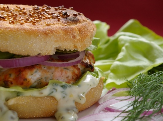 Salmon Burgers With Dill Tartar Sauce Recipes — Dishmaps