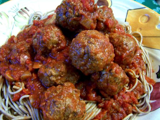 Oven baked pork meatball recipe