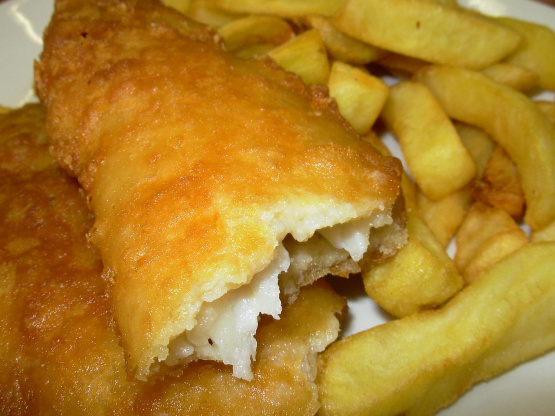 Classic fish and chips recipe for Batter fried fish